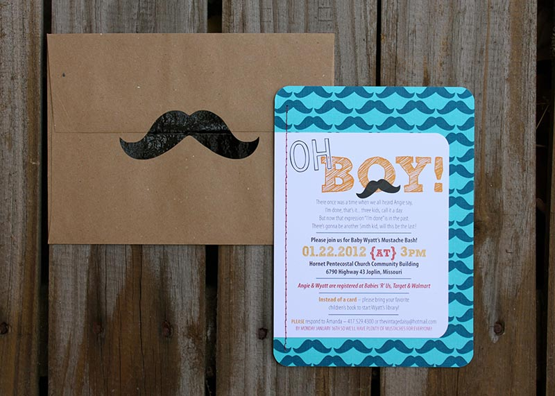 Baby Shower Invitations Mustache was beautiful invitations ideas